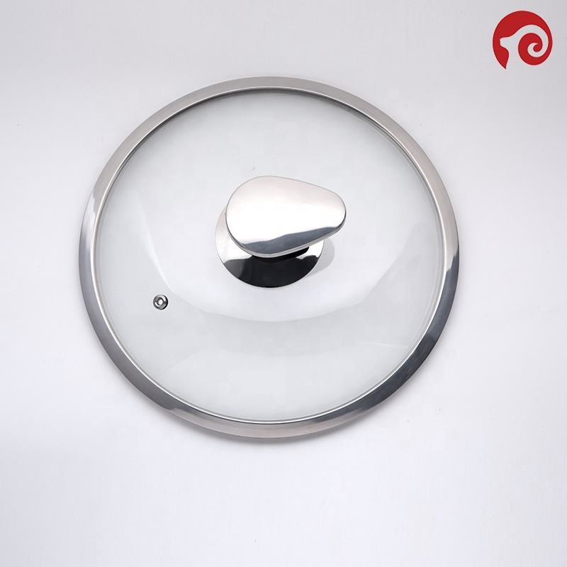 Glass Tempered Pot Strainer Lid with Clear Glas and handle for Cookware