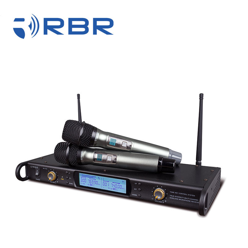 Best quality bm7300 true diversity long range wireless microphone for stage