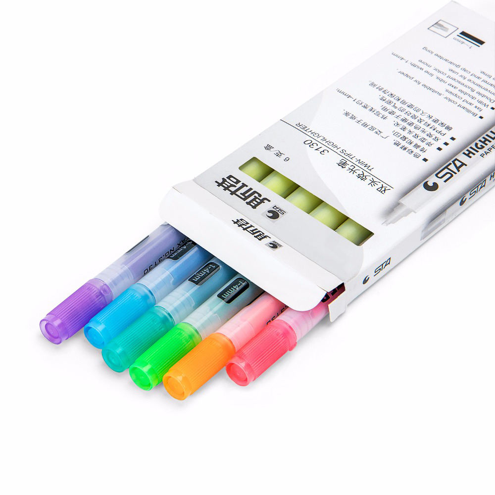 STA NO.3130 color highlighter with for student