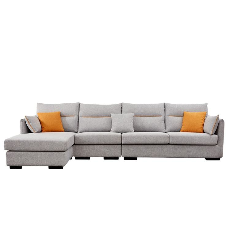 2020 new arrival Living Room Modern Leisure Italian L Shaped Sectional Fabric Recliner Sofa Design