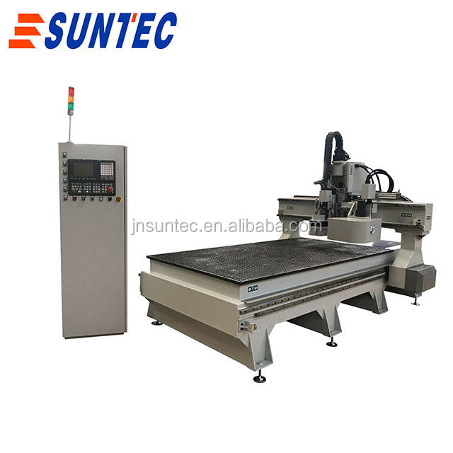 Fast speed automatic tool change linear 8 tool 9 kw italy HSD spindle woodworking cnc router ST1325