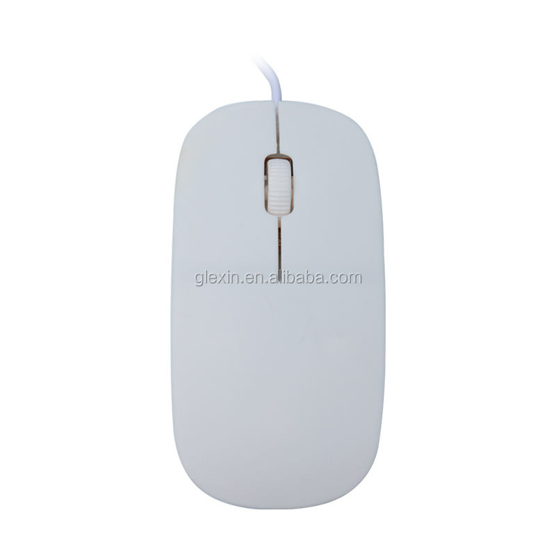 Wholesale Slim Mini Mute Silent With 3 Color Logo Can Be Customized 1600DPI Ergonomics Design Wired Optical Mouse