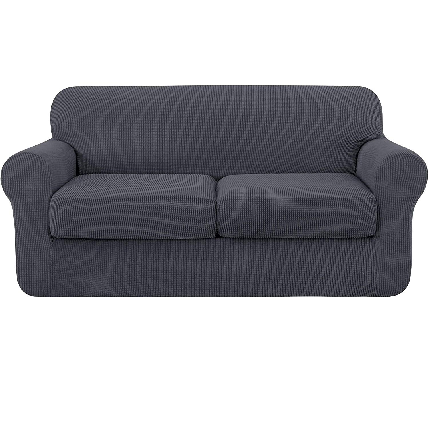 High Stretch Sofa Slipcover with Separate Cushion Velvet Couch Sofa Cover