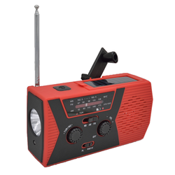 For Mobile Phone Charging, Solar Hand-powered Radio Reading Light  with LED Flashlight