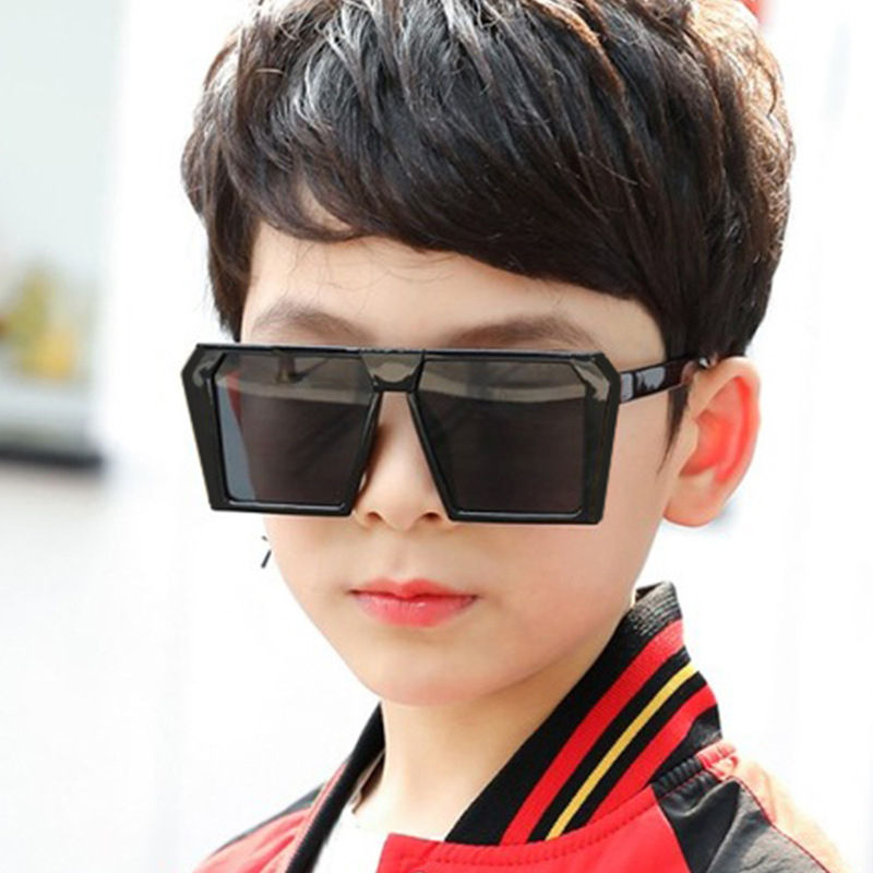 2020 New Kids Square Sunglasses Children Fashion Oversized Shades Boys Big Frame Eyewear Girls Sun Glasses Child