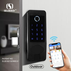 Tahan Air IP65 WIFI Bluetooth APP Remote Kunci Pintu dengan Sidik Jari Digital Gated Community Door Lock