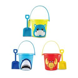 Wholesale Play Summer Outdoor Sports Plastic Sand Bucket Shovel Beach Toys For Kids