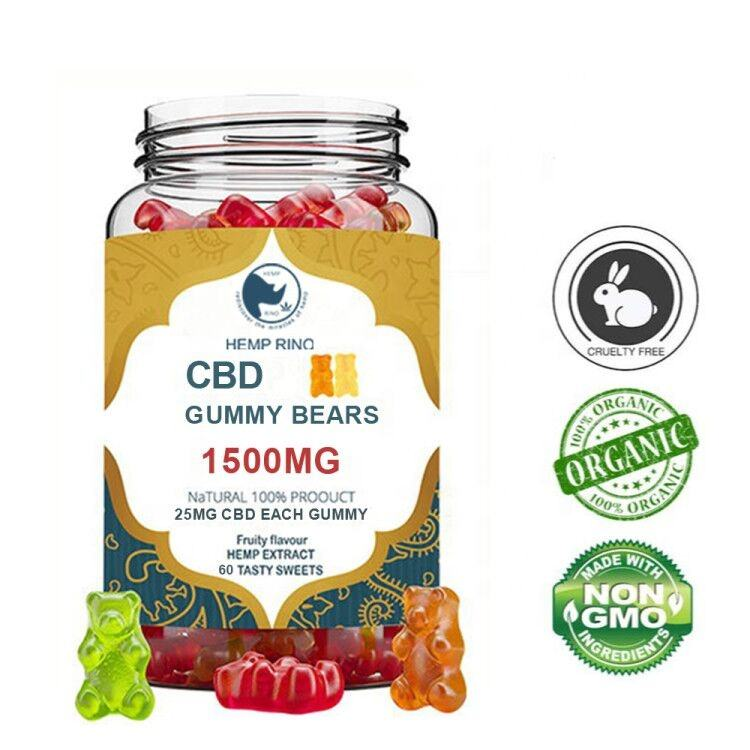 Private Label Organic extract vegan cbd vitamins Hemp Gummy Bears