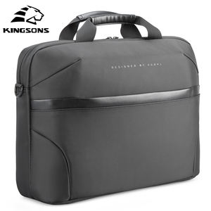 Kingsons new design customized 15.6 inches fashion black laptop computer bag waterproof business laptop bags for men