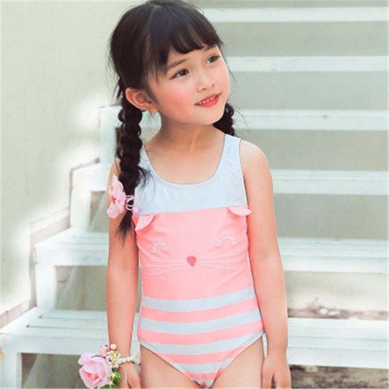 New Model Child Beach Wear 1-8 Y Girls Swimsuit Girls One Piece Swimsuit Baby Summer Bathing Suits
