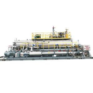 High efficiency booster station for oil and gas mixed transportation