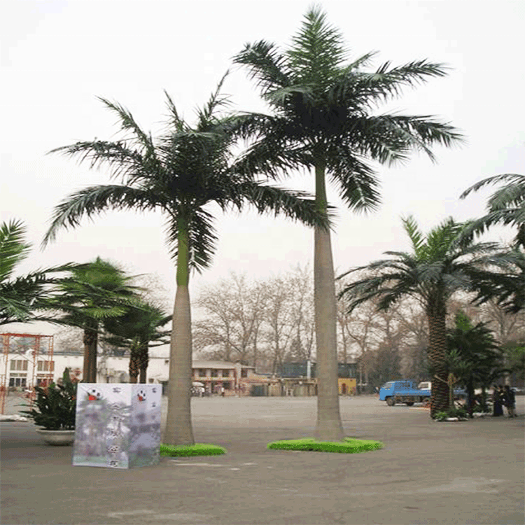 China factory Hot sale customize outdoor coconut palm tree indoor artificial fiberglass coconut tree for landscaping