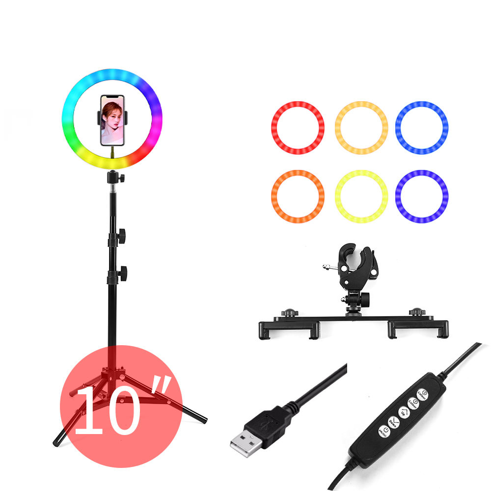Led Light Ring 26 Inches Rgb Met Controle Rl18 Rgb 45 Led Ring Licht Fotografie Studio Video Light Rgb
