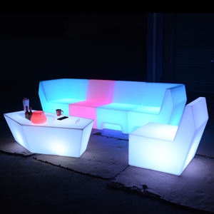 illuminated outdoor furniture sofa set lounge design glowing led chairs tables furniture sectional sofas lighting for party