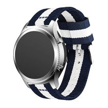 Custom Sports Vintage Nato Nylon Canvas Watch Strap For Samsung Gear s3 Smart Watch Band