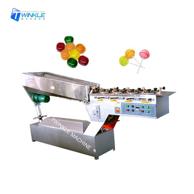 Lollipop hard candy batch roller and rope sizer machine