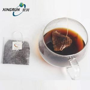 PLA biodegradable cornstarch Corn fiber Non woven heatseal fabric drip tea coffee filter bag with tag