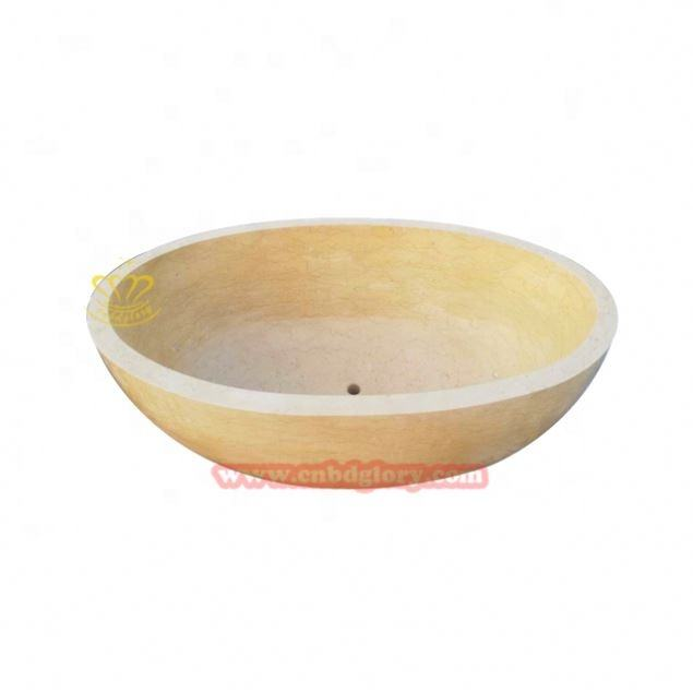 Wholesale Cheap Price Indoor Shower Bathroom Stone Marble Freestanding Bath Tub Bathtub