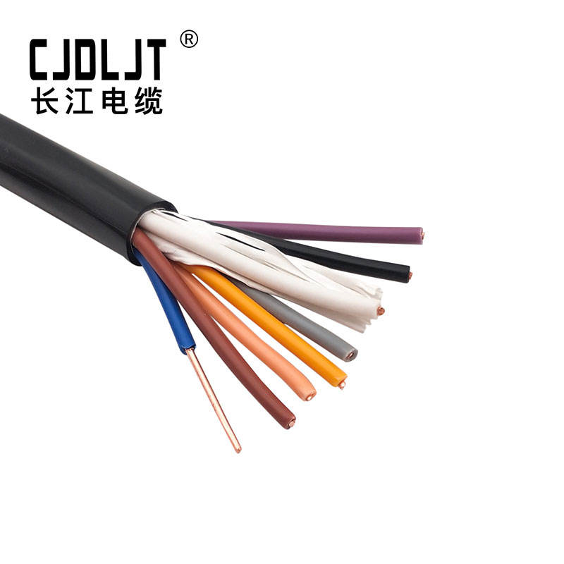 450 / 750V 8 core 4 sqmm H07VV-U solid copper conductor cable