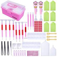 MACTING 118 Pieces DIY Diamond Painting Tools Kits, Diamond Embroidery Storage Box Set for Adults