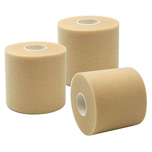 7cm*27m Sports Wrap/Athletic Tape - Professional Grade Foam Underwrap/Pre-Wrap Perfect For Taping Wrist, Ankles And Knees