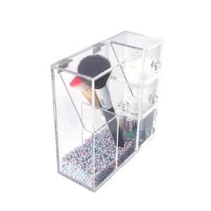Luxus diamant Griff acryl make-up organizer mit pinsel halter
