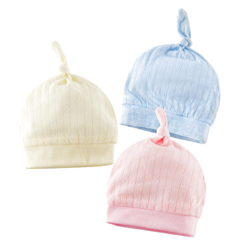 Organic cotton toddler unisex newborn beanie infant knot baby hat