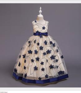 1712 Kids Garments Ball Gown Wedding Dresses Latest Design Maxi Long Design Beautiful Children Dress