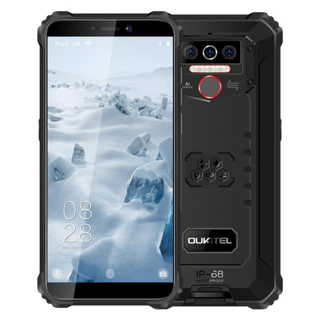 "OUKITEL WP5 IP68 Waterproof 4GB 32GB Android 9.0 8000mAh 5.5 ""'HD + 18:9 Quad Core 13MP MT6761 Tri-proof 5V/2A 4G Mobile Phone"