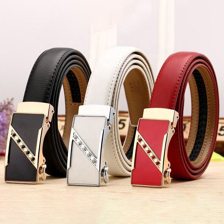 New Style Women's leather Belt casual all match Women brief leather women's belts With metal buckle belt