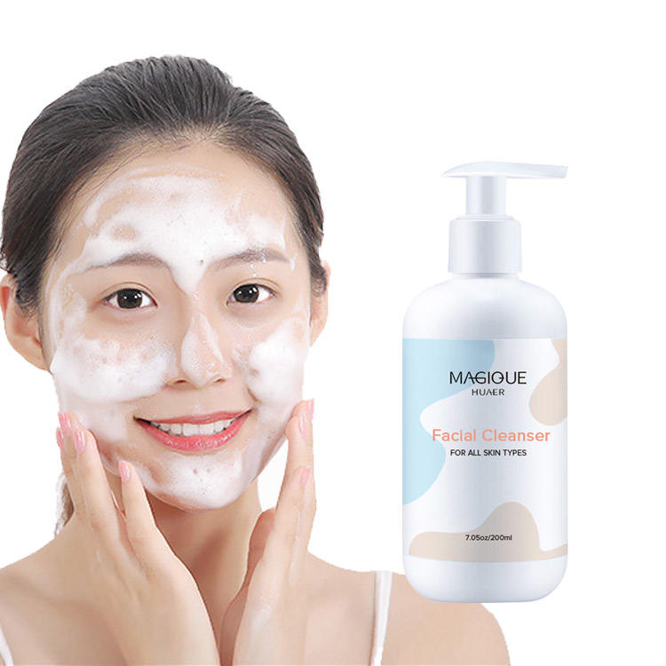 Private Label Bulk Wholesale Natural Korean Cleansing Milk Face Foam Wash Collagen Facial Cleanser