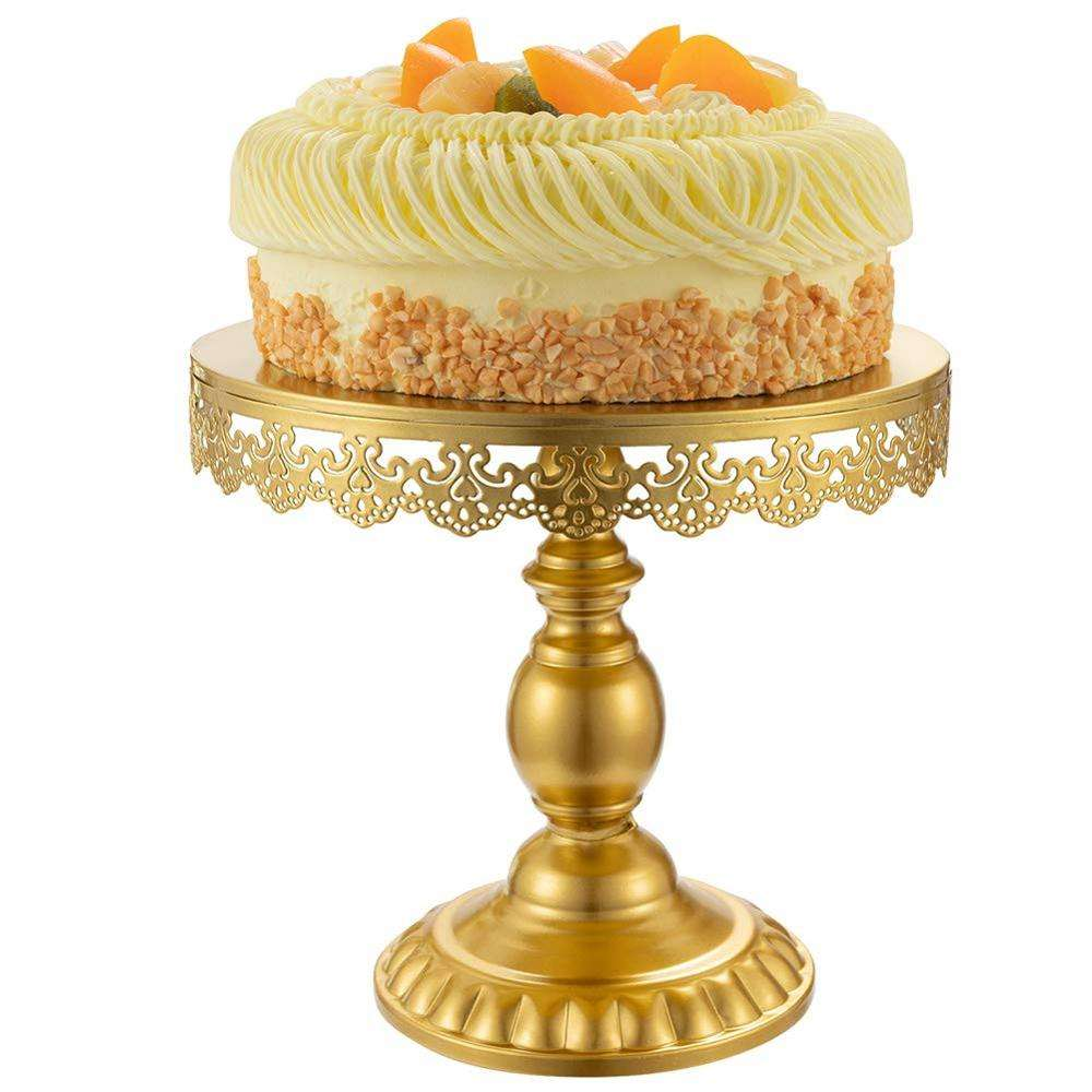 Wholesale Birthday Party Decoration Wedding Cake Serving Platter Dessert Metal Round Rose Gold Cupcake Stand