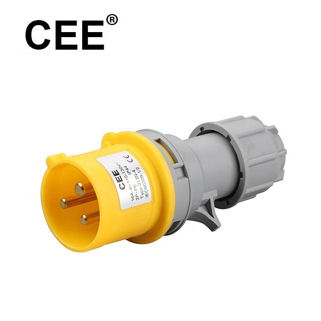 CEE 3Pin 4h yellow male plug 110v 16a male and female industrial plug and socket
