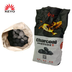 1 Pcs Wholesale EP Non-toxic 2kg Round Black BBQ Coal Barbecue Charcoal
