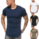 T Shirt Blank Cotton Breathable Running T-Shirts Dry Fit Compression Training Wear Fitness Gym Men T Shirt