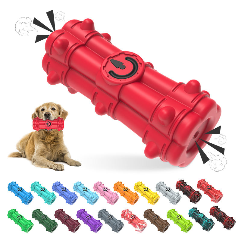 Kinyu March New Arrival Double-End <span class=keywords><strong>Squeaky</strong></span> Bền Bom Xương Hình Dạng <span class=keywords><strong>Pet</strong></span> Toy Nhà Sản Xuất Cho Dog Nhai