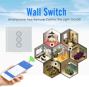 Nirkabel On/Off Power Supply Smart WIFI Touch Dinding Lampu Switch