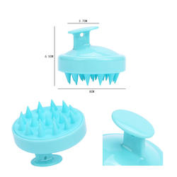 Skin-Friendly Easy Clean Soft Silicone Hair Scalp Massager Shampoo Brush