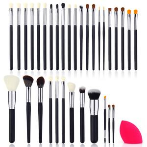 Baru Kosmetik Make Up Kit 33 Pcs Brush Set 50% Off Promosi Private Label Kuas Kosmetik 2020