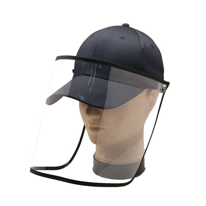 2020 populaire Chapeau de Casquette de Baseball Avec Mobile En Plastique Couverture Visage Bouclier Protection Écran Facial