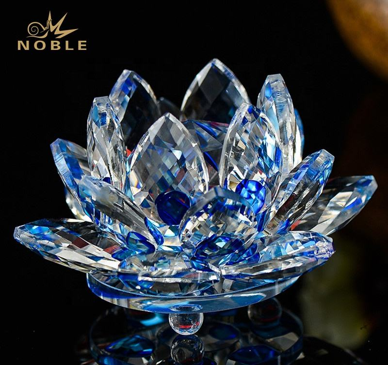 Artificial Crystal Lotus Flower Colorful Wedding Party Decorations Supplies Handcrafted Gift Modern Home Decoration