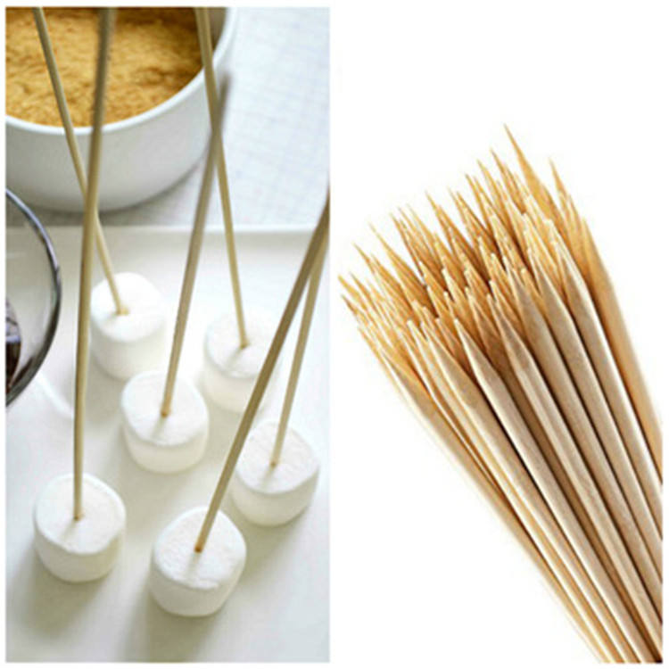 2020-Many useful bamboo skewers safe and healthy Not Coated Smooth and well polished