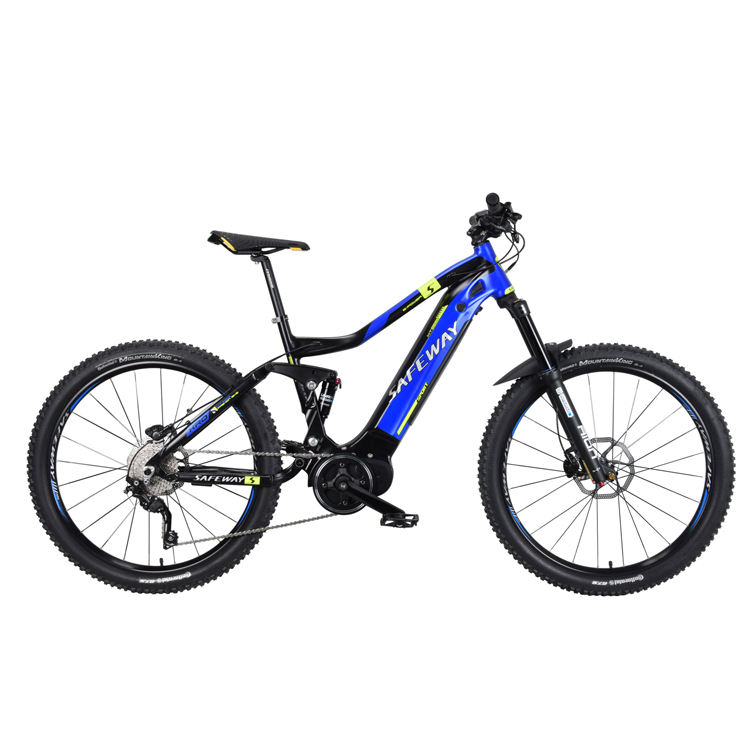 Down hill all suspension rear shock mountain electric bike e bicycle off road mountain ebike