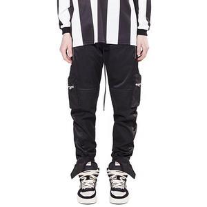 OEM fog street multi zipper pockets stretch waist pants mens popular casual solid color work wear cargo pants stock wholesale
