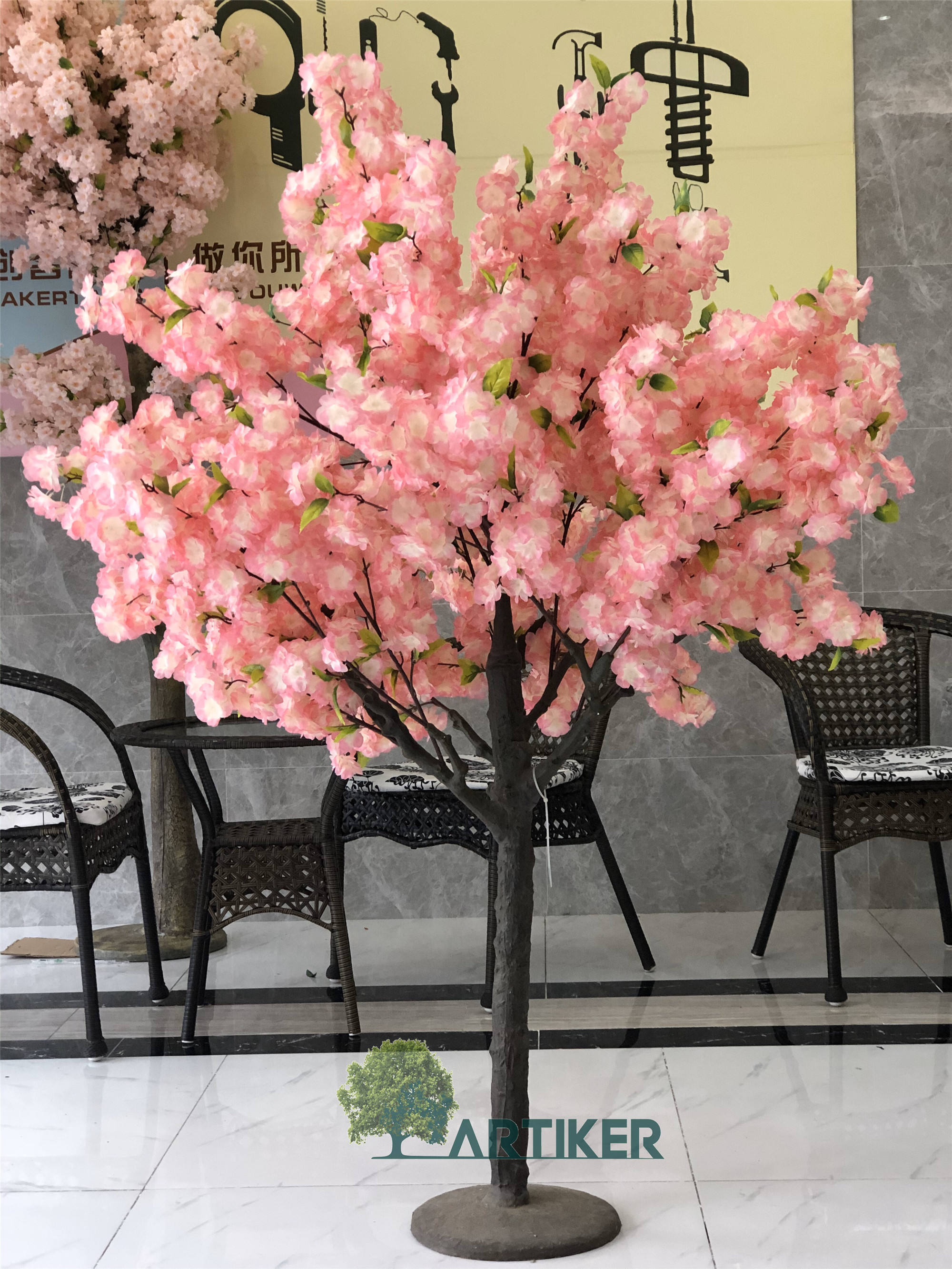 wholesale wedding table centerpieces indoor decorative mini sakura flower artificial cherry blossom tree