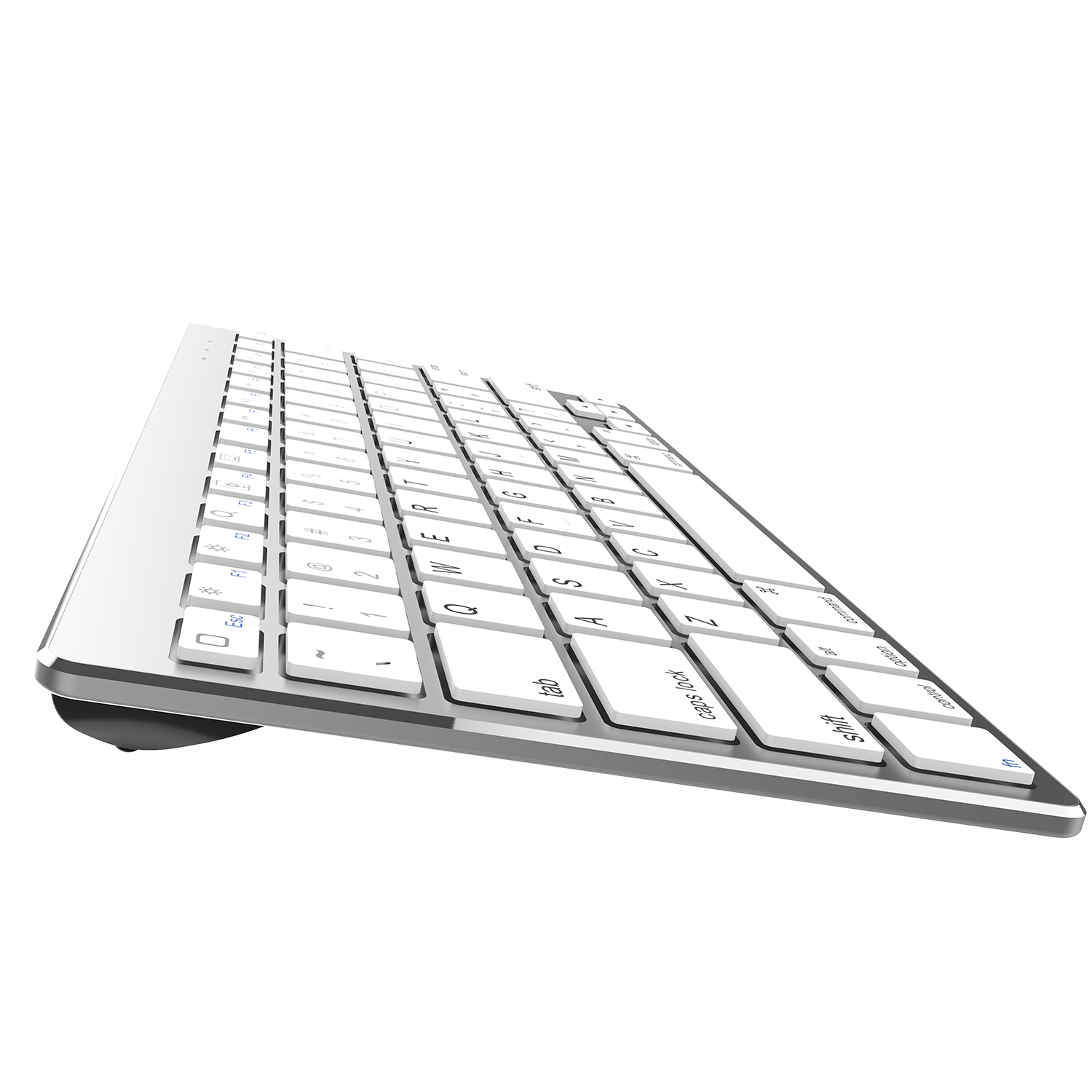 2020 IOS Teclado Metal Aluminium Alloy 78 Key Ergo Wireless Computer Laptop Keyboard for Apple Mac iMac Macbook pro iPad 12.9