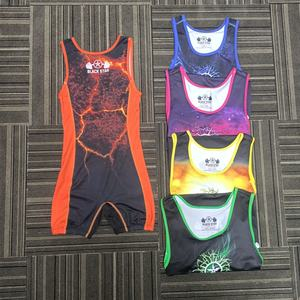 Cheap Custom China Sublimation Youth Boys Wrestling Singlet Design