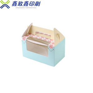 Eco Packing Swiss Roll Cake Box Custom Printed Gift Donut Dessert Food Packaging Paper Pastry Box With Window