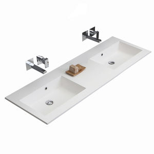 ceramic wash basin double bowl gold vanity and sink sanitary lavabo toilet suite dual user school sink washroom wall basin