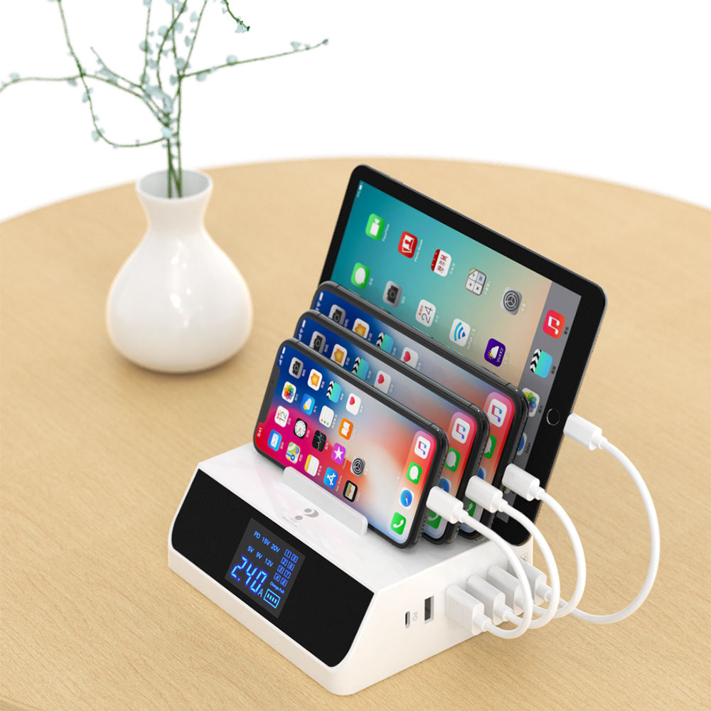 work from home PD 45W charge for iphone USB LED Display type c cable fast charging 100W Mobile Phone spark plug bosch